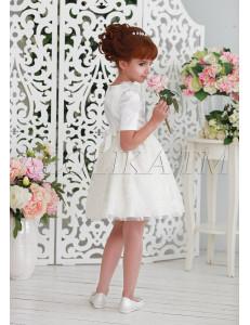 Платье нарядное ванильного цвета утонченная Франсуаза